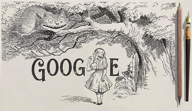 Google Doodle honors 'Alice in Wonderland' artist