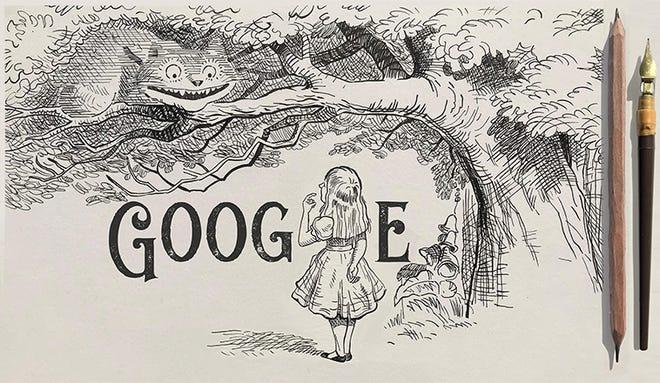 Google Doodle honors 'Alice in Wonderland' artist